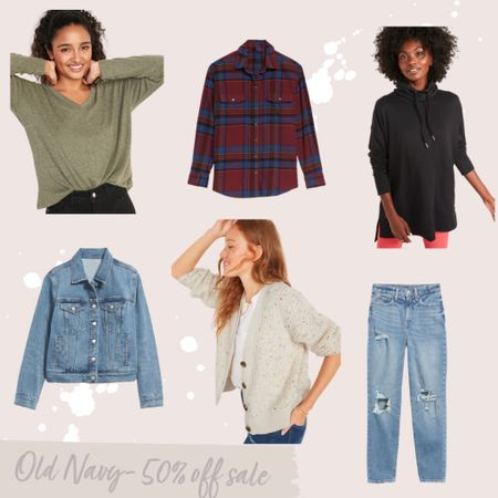 50% off at Old Navy today! Perfect time to stock up on sweaters, jeans, loungewear, flannels and more!   #LTKsalealert #LTKstyletip #LTKunder50