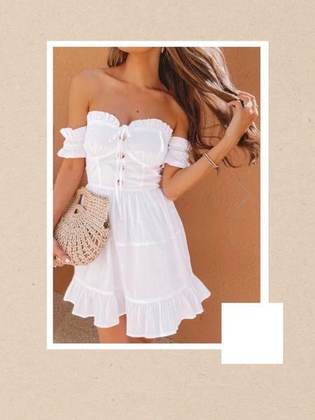 White Dress, brides, wedding, bridal shower http://liketk.it/3jh8z #liketkit @liketoknow.it #LTKunder50 #LTKfit #LTKwedding