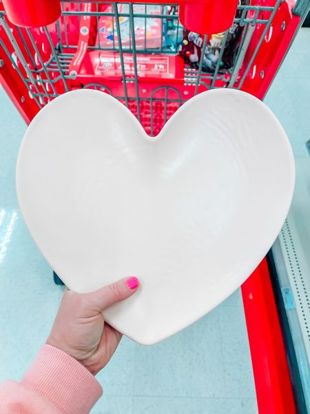 $3 heart plate! Perfect for Valentines Day! Target finds, target dollar spot, valentines meal, vday, target February, pink heart, kid friendly   #LTKSeasonal #LTKVDay #LTKsalealert