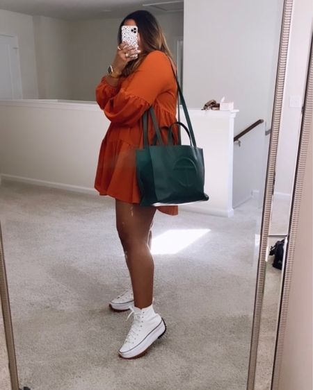 This is sooooo not me! Posting this many times in a day? Anything for my people, though!   Items are linked and you can shop this style on the @liketoknow.it app!   http://liketk.it/39Lix   My purse is Telfar (if you know, you know)! ✊🏾  #AKCESSME #liketkit #LTKunder100 #LTKcurves #LTKstyletip