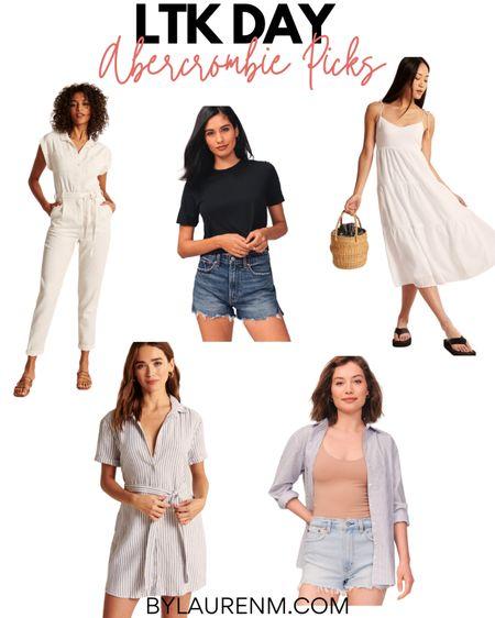LTK Day Abercrombie picks. A&F. High rise mom shorts. @Abercrombie http://liketk.it/3h6fZ #liketkit @liketoknow.it #LTKDay #LTKunder100  #denimshorts #shorts #summer #dresses #jumpsuit
