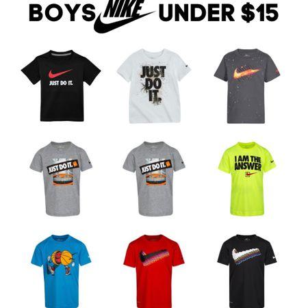 Boys Nike shirts under $15! Get ready for back to school!  http://liketk.it/3jjFz #liketkit @liketoknow.it #LTKkids #LTKunder50 #LTKsalealert