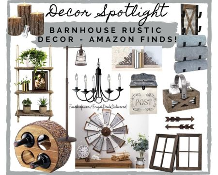 Rustic farmhouse barn house wall home decor - perfect to spruce up your house! Iron metal, barn, wood etc! Patio furniture, spring summer decorating - wine, chandelier, towe rack and shelving!    Screenshot this pic to get shoppable product details with the LIKEtoKNOW.it shopping app follow FrugalDealsDelivered for more ideas and inspiration collages!    http://liketk.it/3az6H #liketkit @liketoknow.it #LTKSpringSale  #LTKhome #LTKstyletip @liketoknow.it.home
