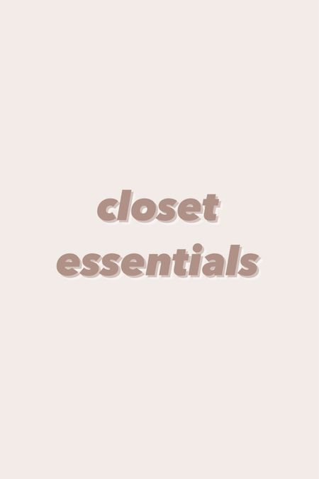 Closet essentials! From my favorite Amazon non slip hangers, shoe storage and organization, and storage containers I use for belts, winter accessories, etc!