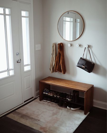 Loving our new entryway. Simple, minimal and stylish. Linked all of these items for you on @liketoknow.it #liketkit #LTKhome #LTKstyletip Download the LIKEtoKNOW.it shopping app to shop this pic via screenshot  #homedecor #interiordesign #roominspiration #entryway #minimalistic #cleandesign #modern @liketoknow.it.home http://liketk.it/2KPue