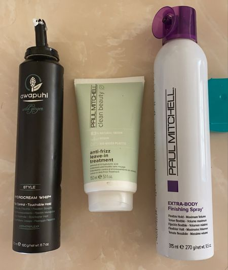 Hair products for humidity Paul Mitchell clean beauty anti frizz curly hair hair spray mousse leave in conditioner volumizing   #LTKbeauty #LTKunder50 #LTKtravel
