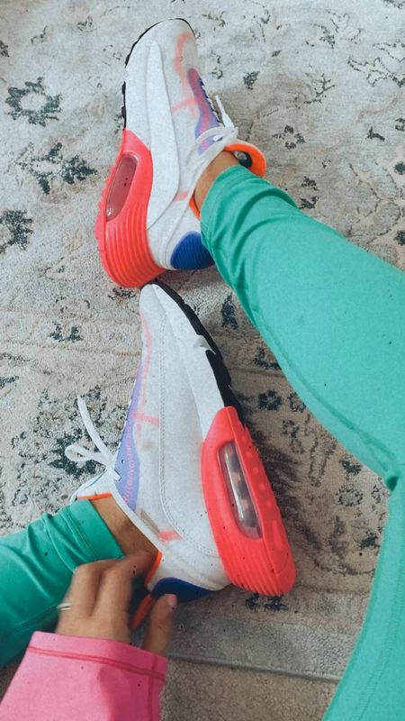 Nike shoes, colorful shoes, colorful gym shoes, cute sneakers, bright sneakers   #LTKtravel #LTKfit #LTKunder100