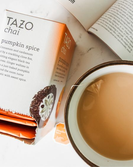 🍂 Pumpkin spice season is back! To avoid crowds at Starbucks, I sometimes brew my own drinks at home. My favorite for fall is the Tazo chai tea with pumpkin spice. I add soy milk to make it a latte and it's delicious.  #LTKunder50 #LTKhome #StayHomeWithLTK