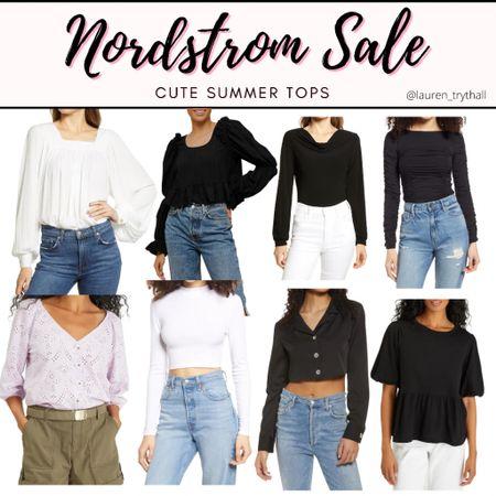 Nordstrom Sale Picks: Summer Tops, Summer Outfit, Nordstrom Sale, Crop Tops   #summertop #nordstromsale #nordstrom #tops #croptops #blouse #casualoutfit  #LTKSeasonal #LTKstyletip #LTKsalealert