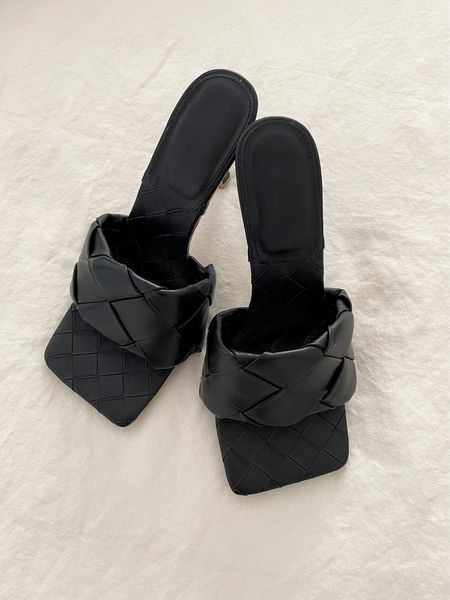 These heels are ultra comfy (they have cushion under the toe area on the bottom of the shoe) & on trend. They run a half size big, so size down if you are inbetween. I need them in another color for sure! #shoes #mules #heels #blackshoes #squaretoeheels #amazonfashion #founditonamazon #amazonfinds #closetstaple #fallshoes   #LTKshoecrush #LTKunder50
