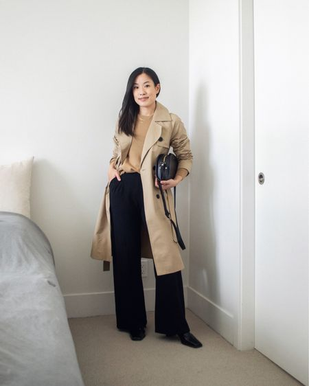 Major fall outfit vibes for the first day of fall 🍂 love this trench coat for its lovely minimal aesthetic and slightly oversized fit.   #LTKfit #LTKstyletip #LTKunder50