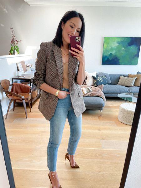 Blazer & denim ❤️ Linked to a few more similar options at different price points!   #LTKSeasonal #LTKstyletip #LTKworkwear