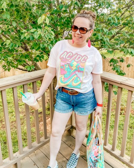 Crop tee and cut off shorts summer outfit   Shop my daily looks by following me on the LIKEtoKNOW.it shopping app @liketoknow.it http://liketk.it/3eNHW #liketkit #LTKstyletip #LTKcurves #LTKshoecrush