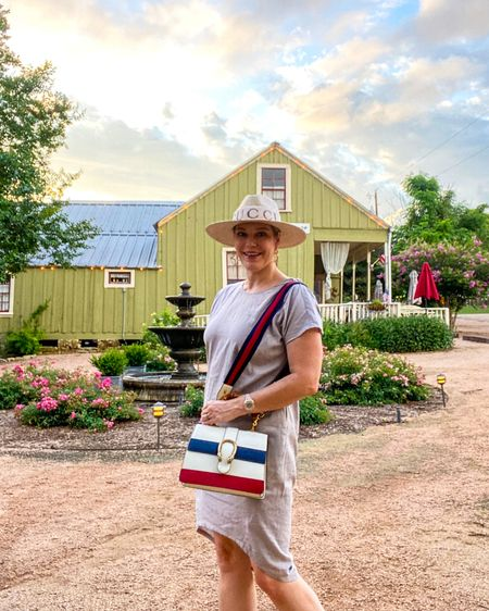 Early mornings in small town Texas. Shop this #linendress perfect for summer 👉 http://liketk.it/3j5KJ or Shop your screenshot of this pic with the LIKEtoKNOW.it shopping app @liketoknow.it #liketkit #LTKunder50 #LTKitbag #LTKstyletip #summerdress #summerweddingdress #weddingguestdress