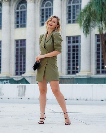 My favorite kind of dress, a blazer dress 💚💚 http://liketk.it/38npT #liketkit @liketoknow.it #asos #asosdress #blazerdress #dressoutfit