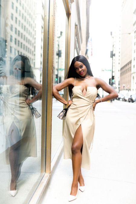 The perfect hot girl summer, vegan leather wrap dress http://liketk.it/3fVtX #liketkit @liketoknow.it #LTKstyletip #ltksummer