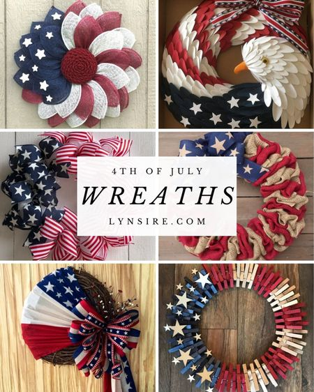 4th of July door wreaths to decorate your home. Some are low in stock so hurry!  #LTKunder100 #LTKhome #LTKSeasonal