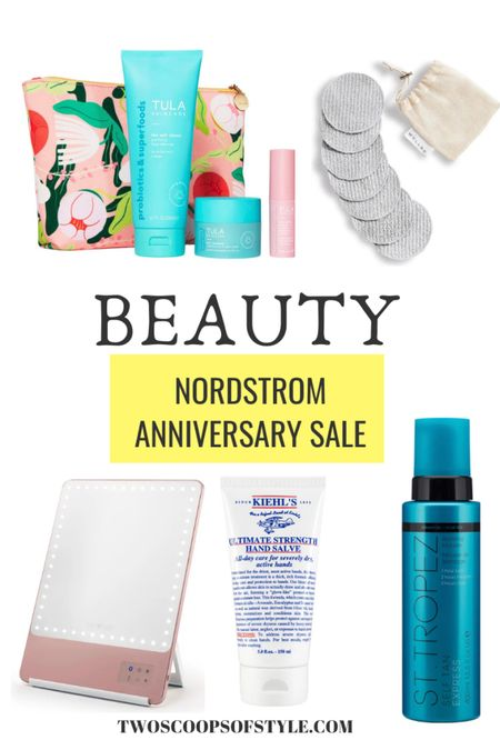 Nordstrom Anniversary Sale Beauty favorites. Sunless tanner, makeup mirro,r, makeup removing pads  #LTKbeauty
