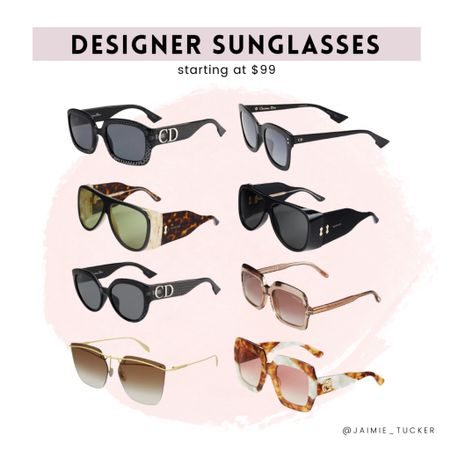 Popular designer sunglasses now starting at $99. | #fallacessories #accessories #bestsellers #fallsunglasses #popularshades #popularsunglasses #JaimieTucker  #LTKstyletip #LTKtravel