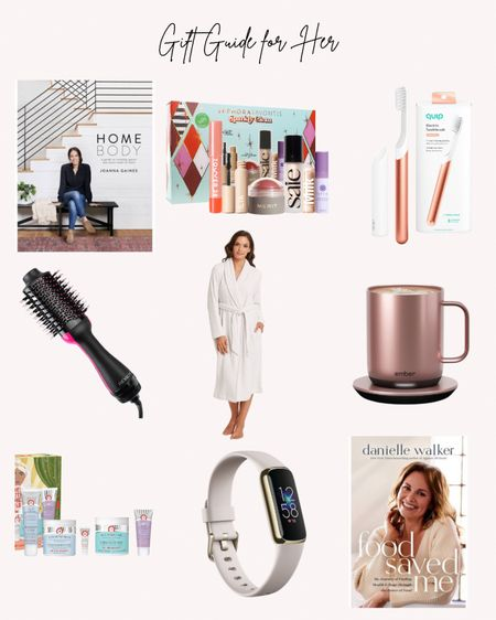 Home body, food saved me, books, robe, clean beauty, tooth brush, Fitbit, heated mug, hair tools, hair dryer  Follow me for more ideas and sales.   Double tap this post to save it for later    #LTKHoliday #LTKGiftGuide #LTKunder100