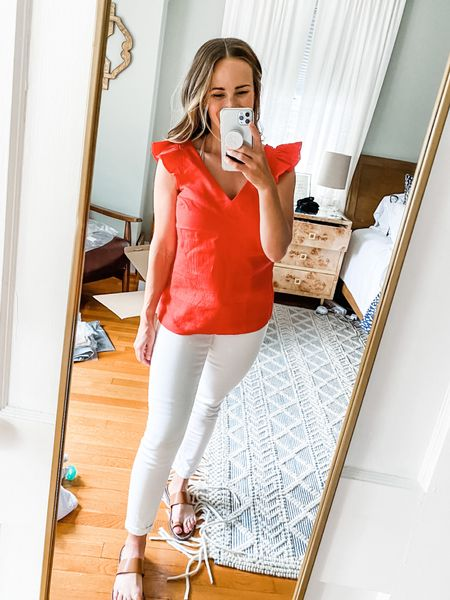 Nordstrom carries Boden, which is one of my favorite brands!! I love this red top. It's sold out in this color on Nordstrom but you can find the same color on Boden.com or the blue version at Nordstrom!   #LTKunder100 #LTKstyletip