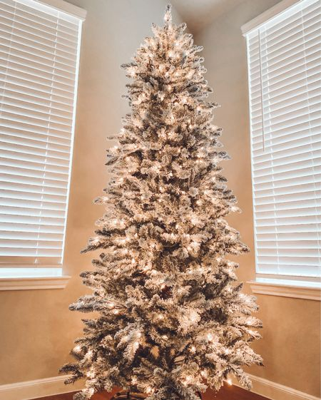 7.5 ft. Pre-lit flocked slim Christmas tree  Tree comes in two sizes and is beautiful!  Linked exact tree, along with several others.      Christmas tree , Christmas , flocked tree , flocked Christmas tree , Christmas trees , Christmas decor , Wayfair finds , target style , target finds , Wayfair Christmas , target home decor , holiday finds , #ltkholidaystyle #ltkfamily #ltkstyletip  #LTKhome #LTKHoliday #LTKSeasonal