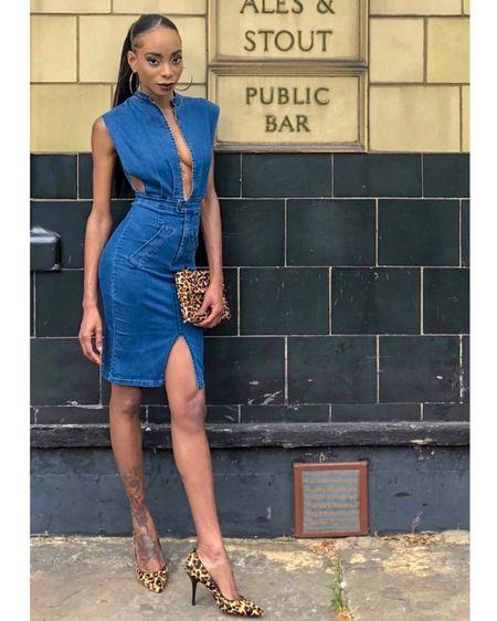 Denim Pencil Dress http://liketk.it/2wV89 #liketkit @liketoknow.it