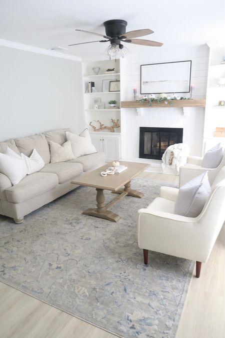 Fall decor 2021, fall living room 2021, fall decorations, neutral decor 2021, neutral living room 2021, neutral home decor 2021, tan couch, white arm chair, light coffee table, modern decor   #LTKhome #LTKstyletip #LTKsalealert