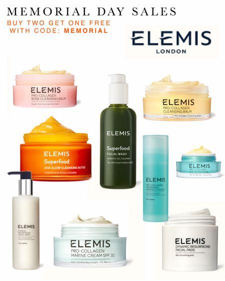 Memorial Day sales! Elemis skincare sale - shop my favorites! Beach vacation ready. Buy 2 get 1 free using code MEMORIAL  #LTKSeasonal #LTKbeauty #LTKsalealert