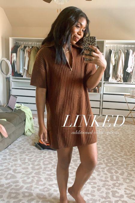 Sweater dress, fall fashion