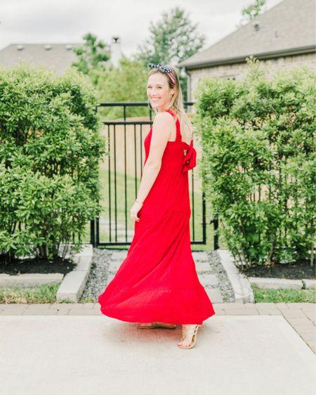 Target style, red maxi dress, summer dresses, 4th of July outfit http://liketk.it/3h5JX @liketoknow.it #liketkit #LTKDay #LTKstyletip #LTKsalealert