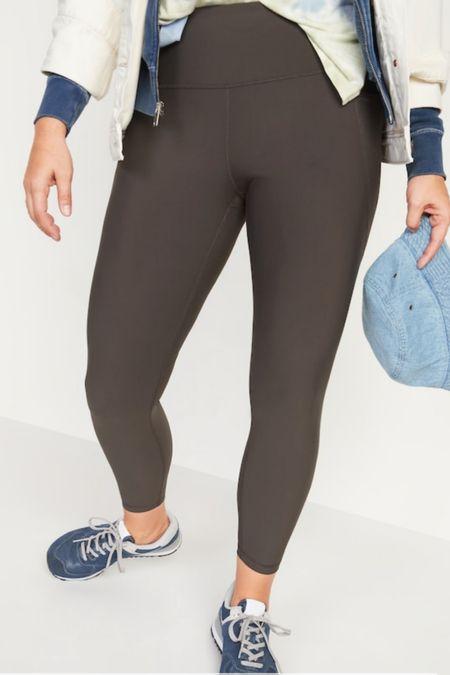 Butter soft compression workout leggings #athleticwear #oldnavy   #LTKunder50 #LTKfit #LTKsalealert