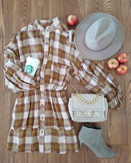 Free People by the way plaid dress Free people plaid dress Plaid dresses  Fall outfits Autumn outfits Fall outfit inspo Apple picking outfits Pumpkin picking outfits  http://liketk.it/3kGNV @liketoknow.it #liketkit #LTKstyletip #LTKunder50 #LTKshoecrush #LTKitbag #LTKunder100