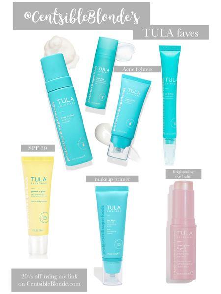 Tula favorites Brightening eye balm, spf 30 sunscreen gel, acne spot treatment, acne foam cleanser, acne moisturizer, make up primer, acne gel, Acne clearing set   20% off >>> https://share.tula.com/x/aRNI5c   http://liketk.it/2RPUR #liketkit @liketoknow.it #LTKtravel #LTKitbag #LTKhome