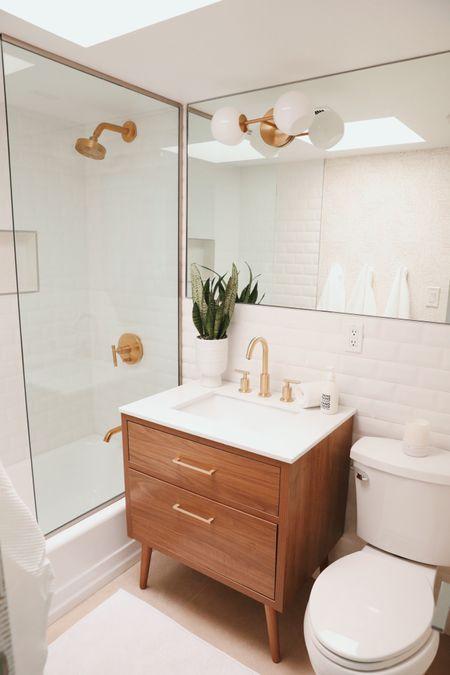 Our guest bathroom home revamp! Linked everything here   #LTKsalealert #LTKhome #LTKstyletip