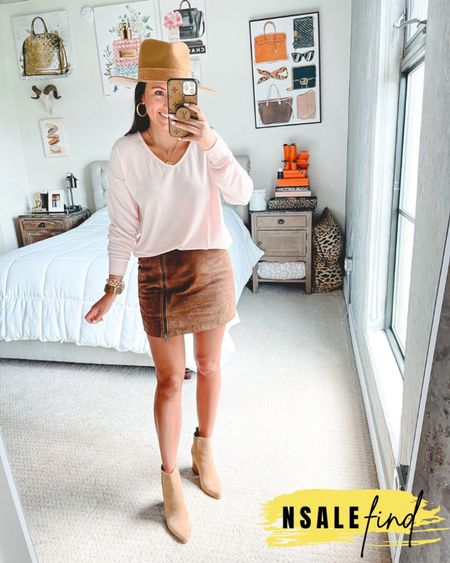 Nordstrom anniversary sale outfit - gibsonlook fleece top with Blanknyc suede mini skirt and Marc fisher booties. All true to size  #nordstromanniversarysale #nordstrom #nordstromanniversarysale2021 #nsale #nsale2021 #anniversarysale #nordstromsale Nordstrom anniversary sale Nordstrom anniversary sale 2021 nsale nsale2021     #LTKunder50 #LTKunder100 #LTKsalealert