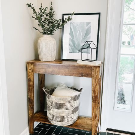 Console table perfect for the foyer area.   #LTKunder100 #LTKhome #LTKstyletip