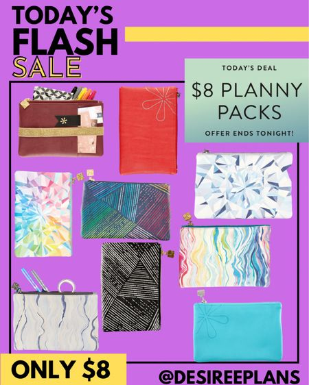 Today's Flash Deal @erincondren are $8 Planny Packs! Can hold, pens, accessories, make up etc perfect for back to school or on the go! When you buy 4+ the price drops to $5 each!! Reg. $20!   #LTKkids #LTKsalealert #LTKfamily