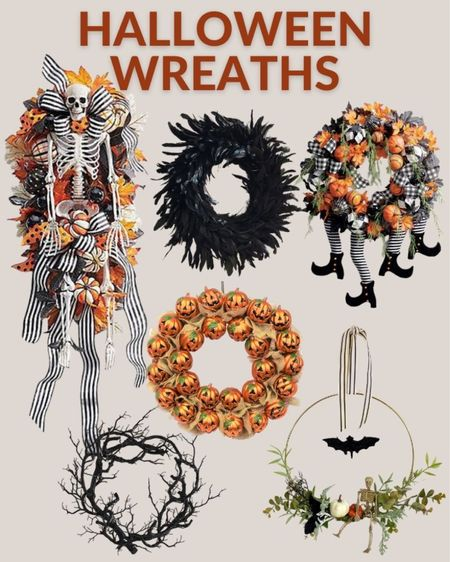 Halloween wreaths are a great way to great trick or treaters! Make a statement with one of these fall wreaths for Halloween. Halloween decor, porch decor, wreaths for Halloween, fall wreath, spooky wreath, spooky Halloween decor  #LTKSeasonal #LTKstyletip #LTKhome