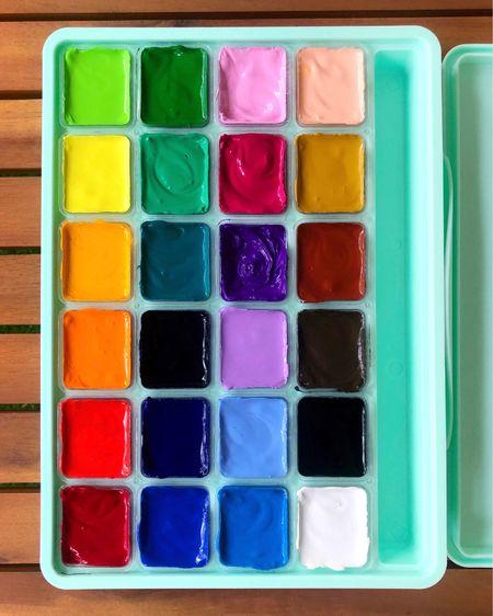 Affordable gouache paint and art supplies from Amazon. #amazonfinds  #LTKbacktoschool #LTKSeasonal #LTKunder50