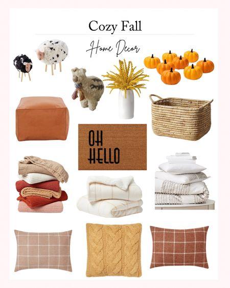 Cozy Fall Home Decor - Fall Favorites for Home. Fall throw pillows, fall blanket, fall organization, fall mat   #LTKHoliday