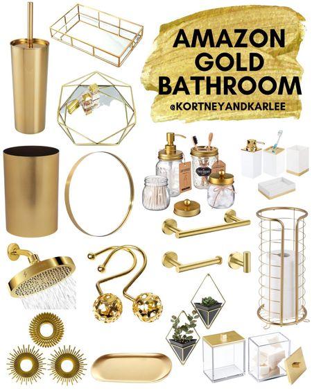 Amazon Gold Bathroom  Amazon gold decor   amazon gold home decor   gold decor from amazon   amazon home decor   affordable gold decor   affordable gold home decor   gold home decor amazon finds   amazon home finds   amazon home favorites   gold bathroom decor   amazon gold bathroom   Kortney and Karlee   #Kortneyandkarlee #LTKunder50 #LTKunder100 #LTKsalealert #LTKstyletip #LTKSeasonal #LTKhome @liketoknow.it #liketkit