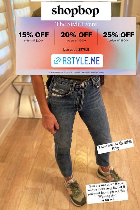 Agolde jeans on sale at shopbop new balance sneakers womens   #LTKsalealert #LTKunder100 #LTKstyletip