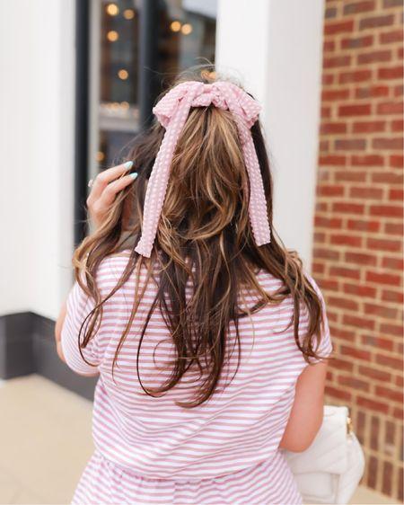 Feminine details on make for effortless summer outfits! Casual chic summer look under $100! Affordable outfit // Target finds // hair scrunchie with bow.   #LTKstyletip #LTKSeasonal #LTKunder50