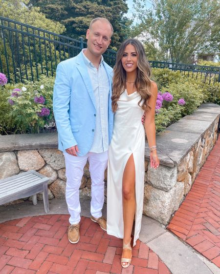Wedding rehearsal outfits for the bride and groom… engagement picture outfit for him and her   http://liketk.it/3hADN #liketkit @liketoknow.it #LTKwedding #LTKtravel #LTKmens