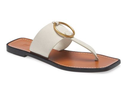 How cute are these off white suede thong slide sandals for under $200 in the N Sale 2021 Nordstrom Anniversary sale. These women's N sale shoes / flats also come in Black and Tan and would be perfect for vacation. #nordstrom #slides #womensslides #slidesandals    #LTKsalealert #LTKtravel #LTKshoecrush