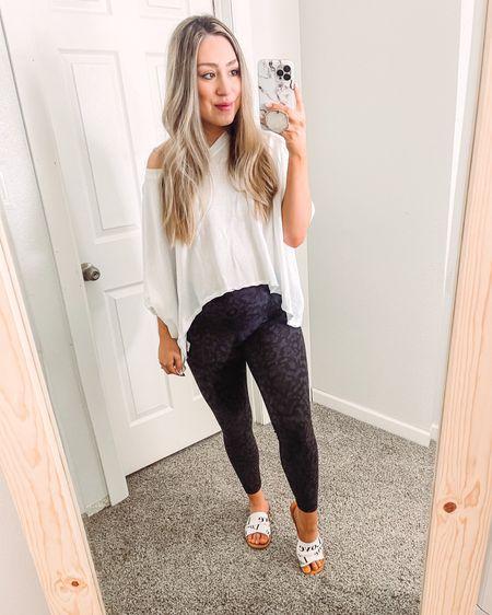 Casual Bump Friendly on the go outfit  Free People Tee / Lulu lemon align leggings / Chloe sandal dupe http://liketk.it/3bNx3 #liketkit @liketoknow.it