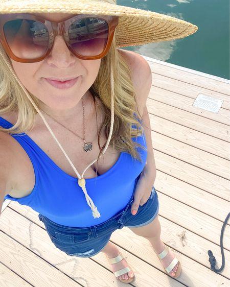 Summer Fridays are off to a great start! Linked my $13 swimsuit here: http://liketk.it/3iVyg #liketkit @liketoknow.it #holidayweekend #ootd