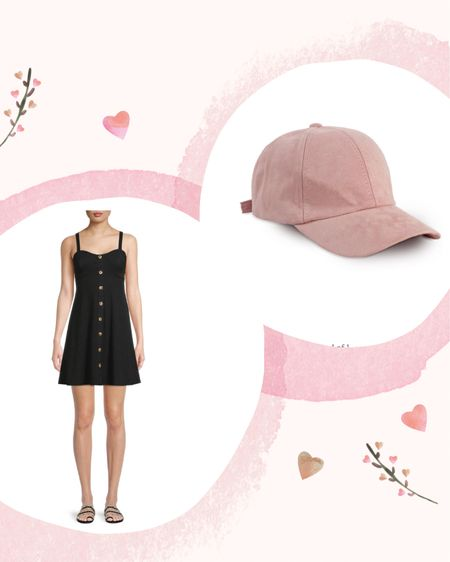 Summer fashion Walmart fashion Pink hat Black dress   http://liketk.it/3isBO @liketoknow.it #liketkit #LTKstyletip #LTKunder50 #LTKsalealert