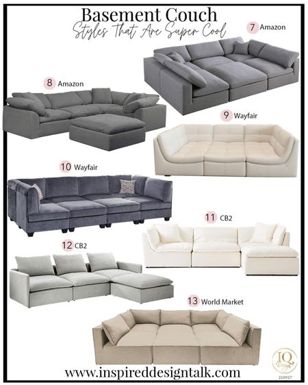 Awesome pit sectional couch ideas to update your living room decor. These are the most comfortable sofas ever!  Home decor, living room inspiration, pit sofa, sectional sofa, living room furniture, basement, family room, fall home decor, amazon finds, wayfair finds, cb2, world market finds   Follow me on the LIKEtoKNOW.it app for more furniture and home decor inspiration.   #LTKstyletip #LTKhome #LTKmens